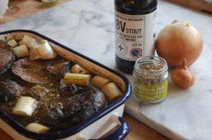 Wild rub rub Maysfield brewery stout & beef silverside